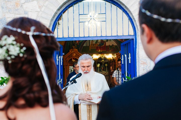 A wedding in the church on the island of Zakynthos