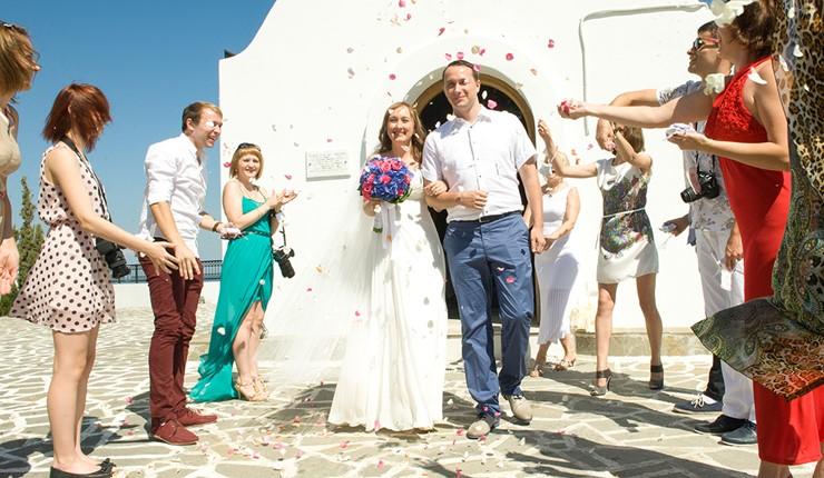 Венчание в церкви на Родосе