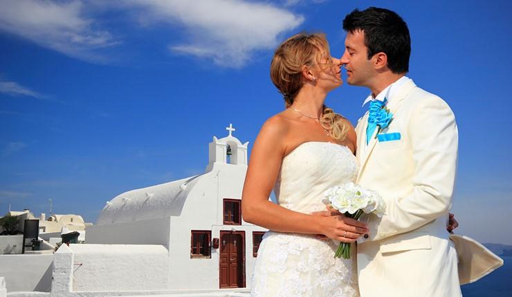 Венчание в церкви на Санторини