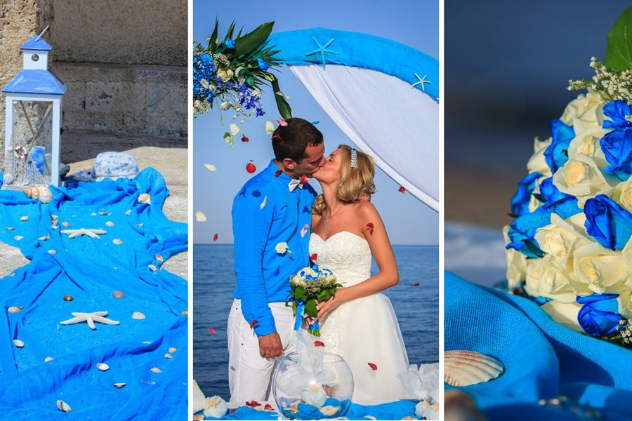A luxury wedding at the seaside on the island of Rhodes