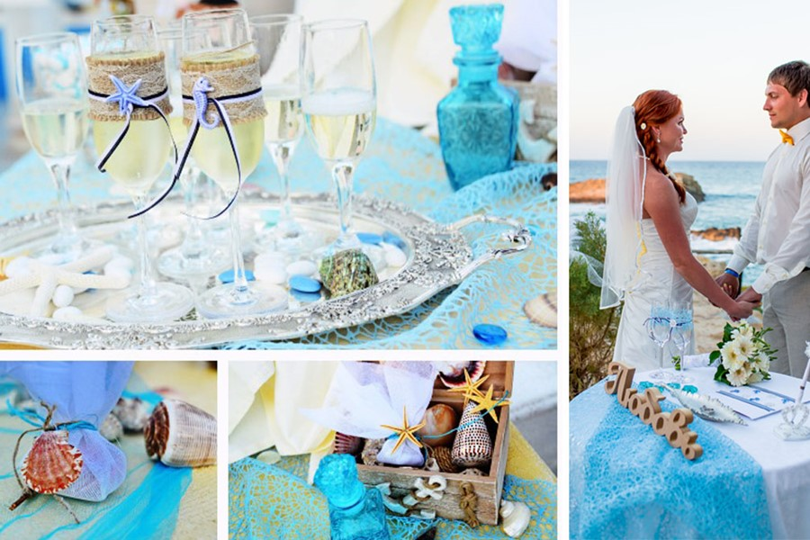 A luxury wedding at the seaside on the island of Mykonos