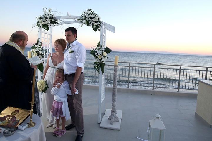 Венчание при отеле Rahoni Cronwell Park Hotel, Халкидики