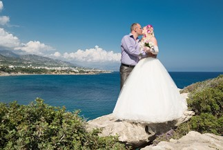 Natalia's and Andrey's symbolic beach wedding