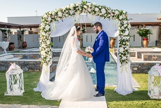 Dina's And Samvel's wedding in Armenian church on Crete