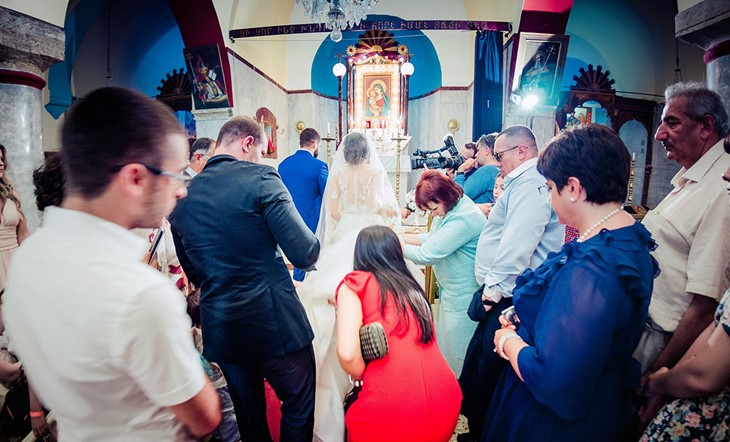 wedding in Armenian church in Heraklion