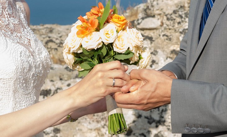 Символическая свадебная церемония на острове Закинфос
