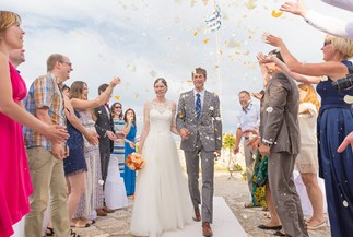 Ludmila's and Vasiliy's wedding ceremony at Bohali