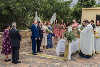 Orthodox wedding of Alexandr and Irina on Crete