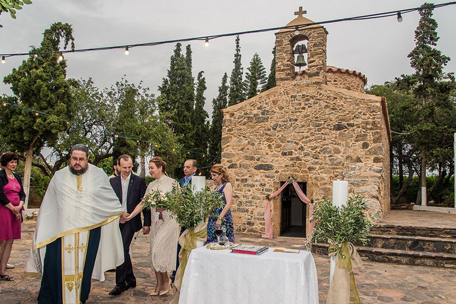 A wedding ceremony in a villa in Athens