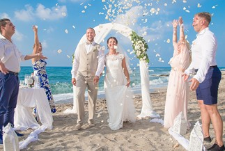 фициальная свадебная церемония Дианы и Яниса
