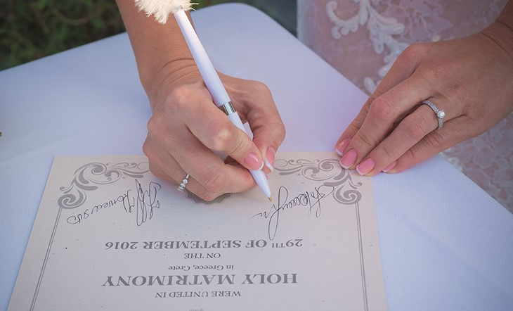 Символическая церемония Юлии и Евгения на Крите