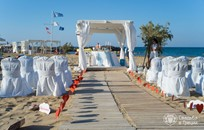 Crete, Symbolic  ceremony, Beach with a White tent